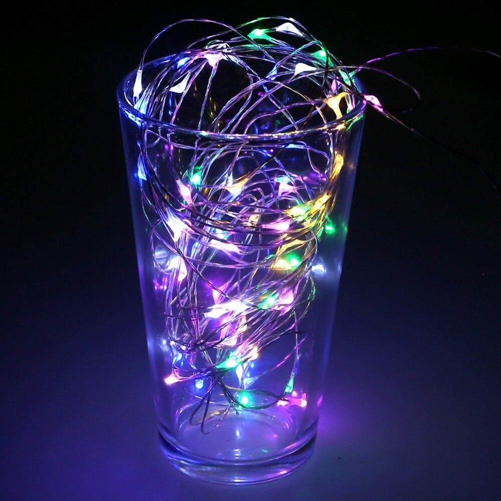 LED String Light 10m 100leds Silver Wire Fairy Lights med 12V 1A - Festlig belysning - Foto 3