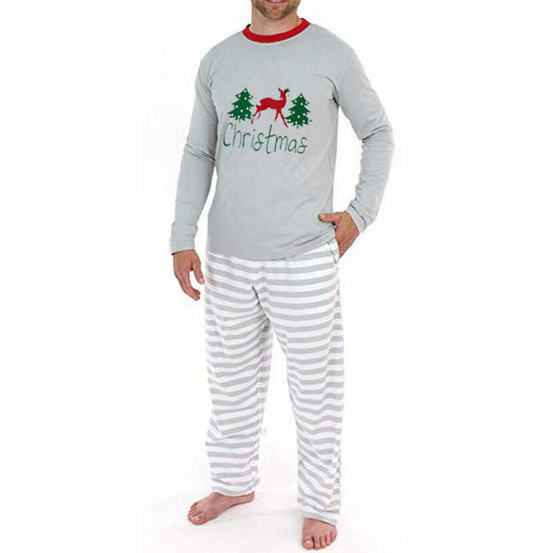 משפחת התאמת חג המולד פיג 'מה סט למבוגרים גברים נשים ילדים חג המולד צביים מודפס ארוך שרוול הלבשת 2019 חדש חג המולד Nightwear
