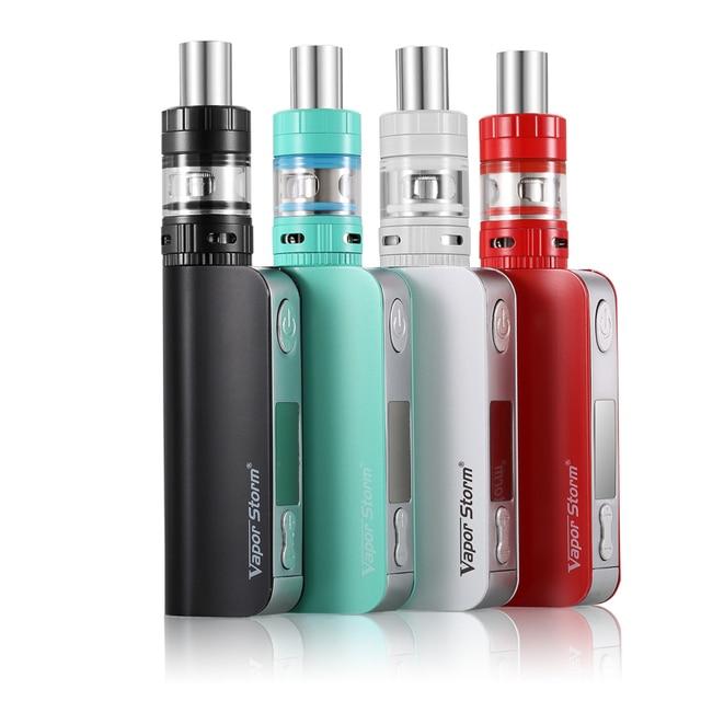 Novo design kitVapor Tempestade V50 50 W Box Mod kit Vape vaporizador Caneta Atomizador Vaporizador melhor cigarro e cachimbo de água comparar Istick