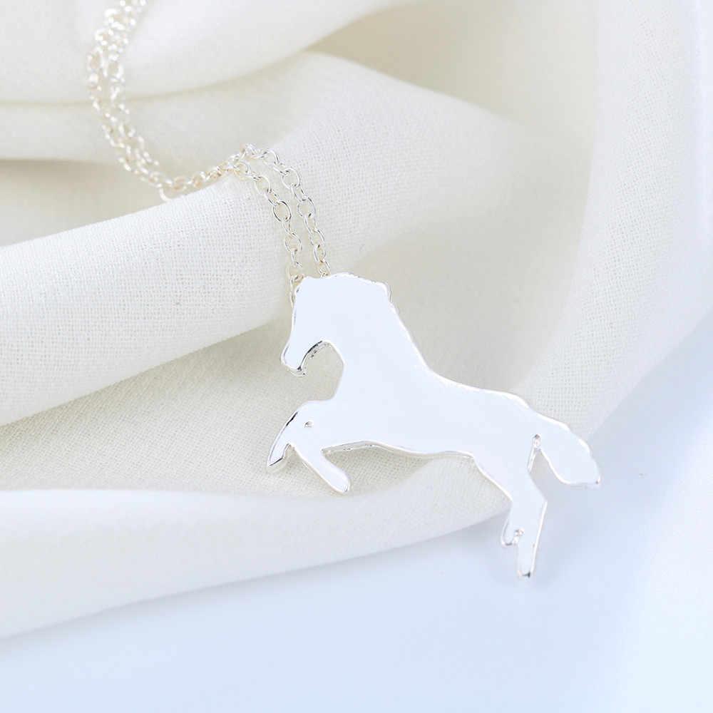 Kinitial أزياء المرأة سحر تشغيل الحصان الحيوان قلادة الرجال قلادة سلسلة الذهب والفضة اللون المجوهرات بالجملة بيجو
