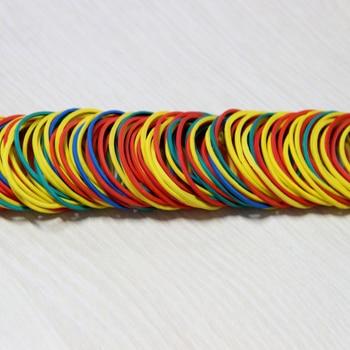 100 Peças / pacote Colorido Natureza Bandas De Borracha 38mm Escritório Escola Home Industrial Rubber Band Moda Papelaria Titulares do pacote 1