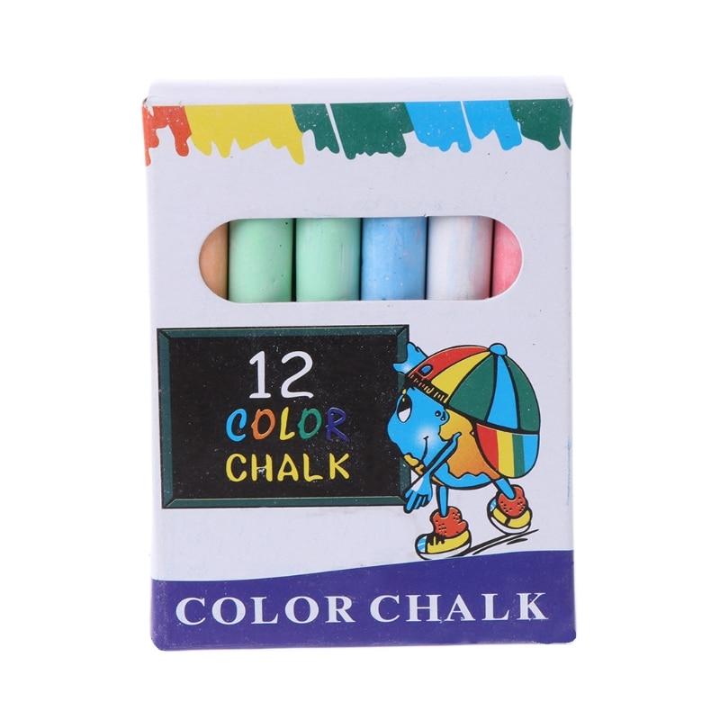 12 pcs/Lot Dustless Chalk Pen Drawing Chalks For Blackboard s