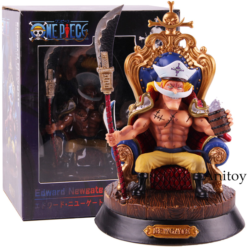 Anime One Piece White Beard Edward Newgate Action Figure PVC Collectible Model Toy lp902 multi function desktop socket aluminum panel wall socket multimedia screen table plug