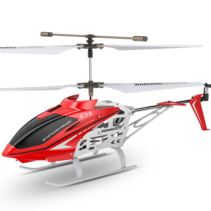 RC Helicopter Gyro Remote-Control-Toy Led-Flashing Kids Anti-Shock 3CH S39 With Aluminum