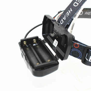 LED Headlamp 5 LED Headlight XM-L T6 + 4 XPE LED USB Rechargeable head lamp 4 mode light Bright linternas with 18650 PCB Battery