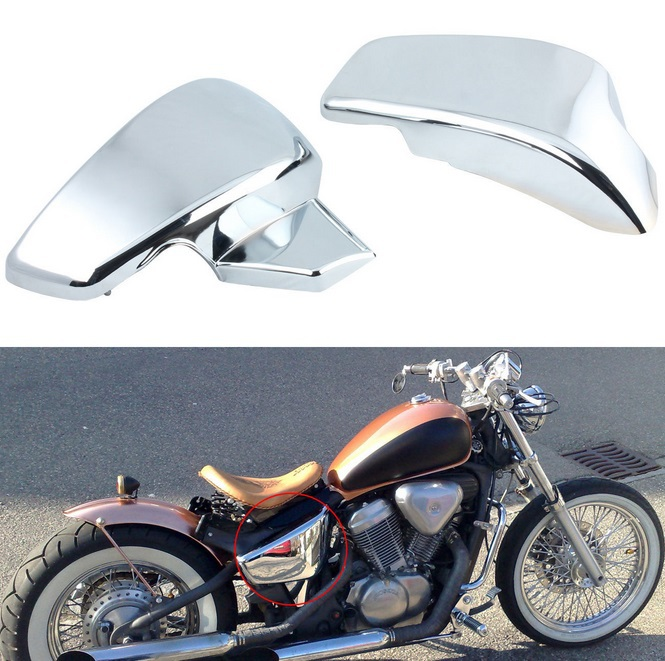 Chrome Battery Side Cover For Honda VT 600 C CD Shadow VLX 600 Steed 600 накладка steed vlx400 600 vstar ds400 650