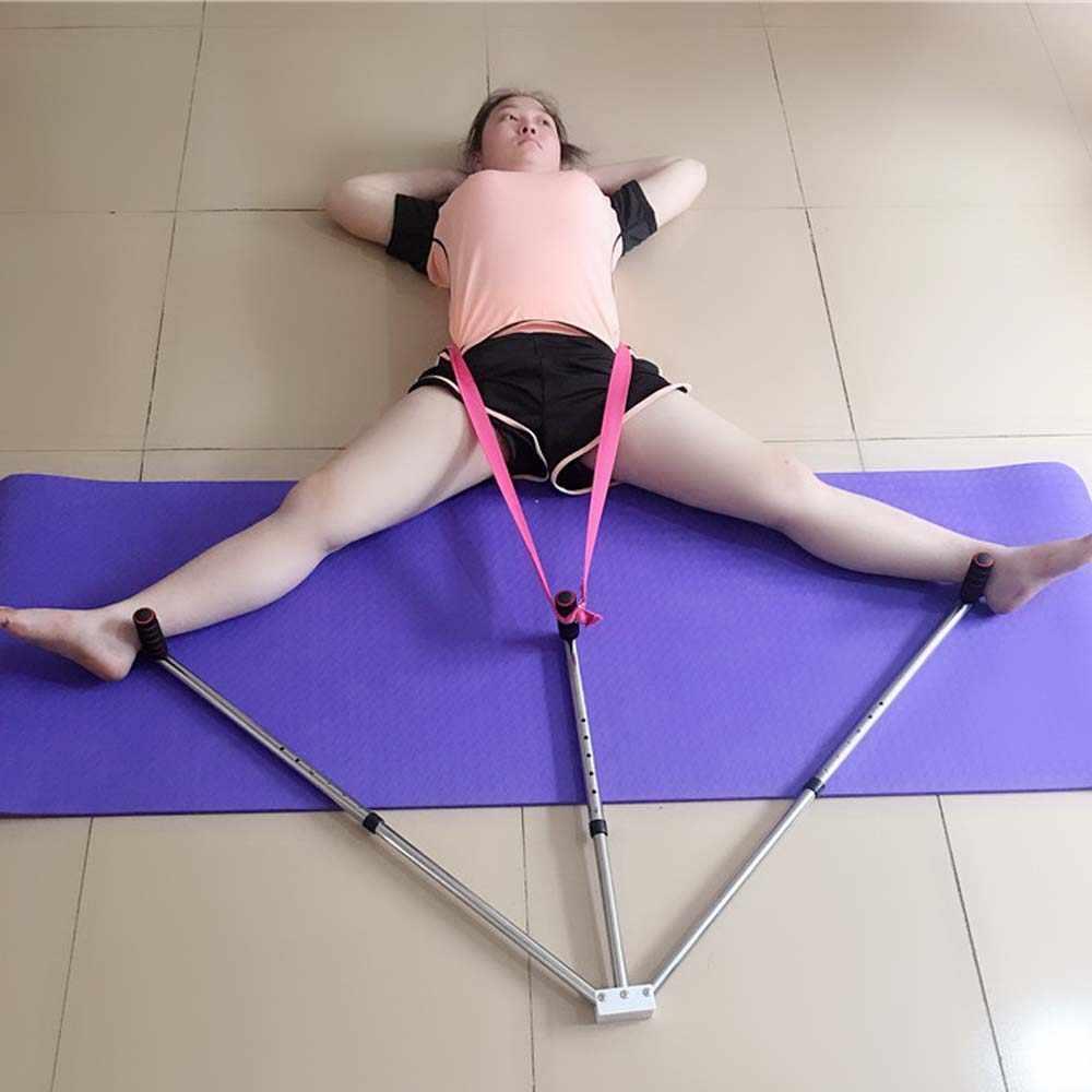 3 בר מעשי רגל הארכת מכונה אימוני גמישות פיצול רגליים ברצועות אלונקה עבור ריקוד טאקוונדו Sanda יוגה בלט