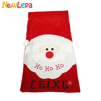 Christmas Santa Sack Stocking PERSONALISED Present Gift Bag Xmas
