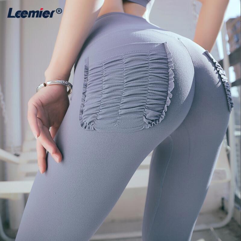 High Waist Scrunch Training Pants For Women Fitness Running Pants Sport Leggings Push Up Tights Sportswear in Running Pants from Sports Entertainment