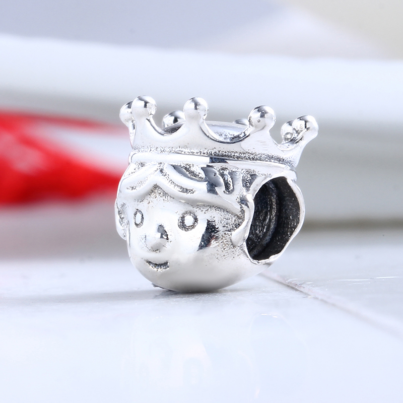 High Quality 100% 925 Sterling Silver Charms Fit Original Pandora Bracelet Precious Prince Charms Beads for Jewelry Making Gift