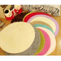 Soft Shaggy Area Round Rug Living Room Carpet Bedroom Floor Mat Carpet 80CM 100CM 120CM 3