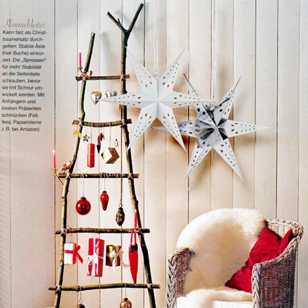 1pc 6 Angle Paper Star Lantern Christmas Home Wind...