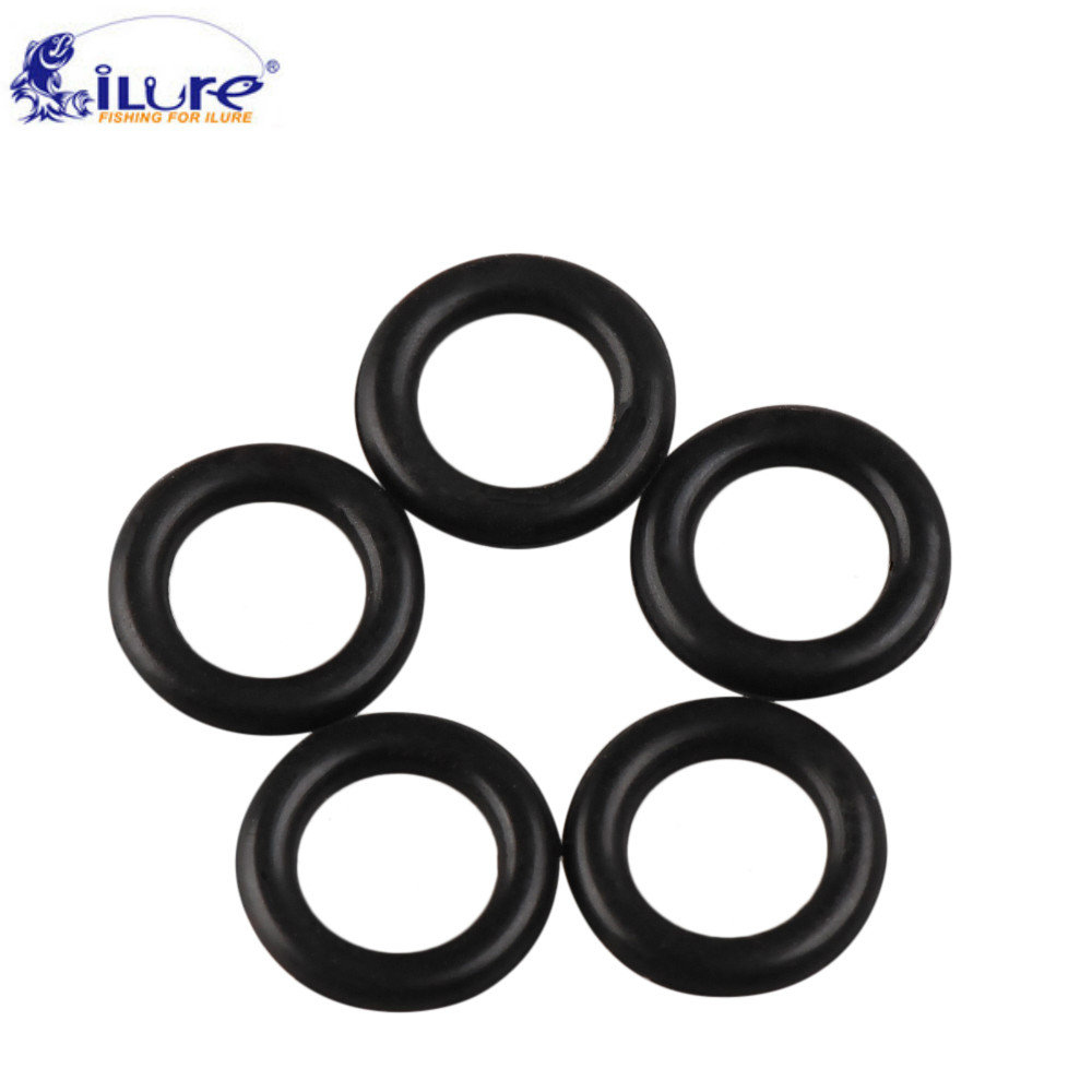 iLure 60Pcs/Lot Rubber O Rings Black for Wacky Rig Soft Baits Worm Fishing Lure Silicone Rubber Ring Fishing Tackle Accessories ...