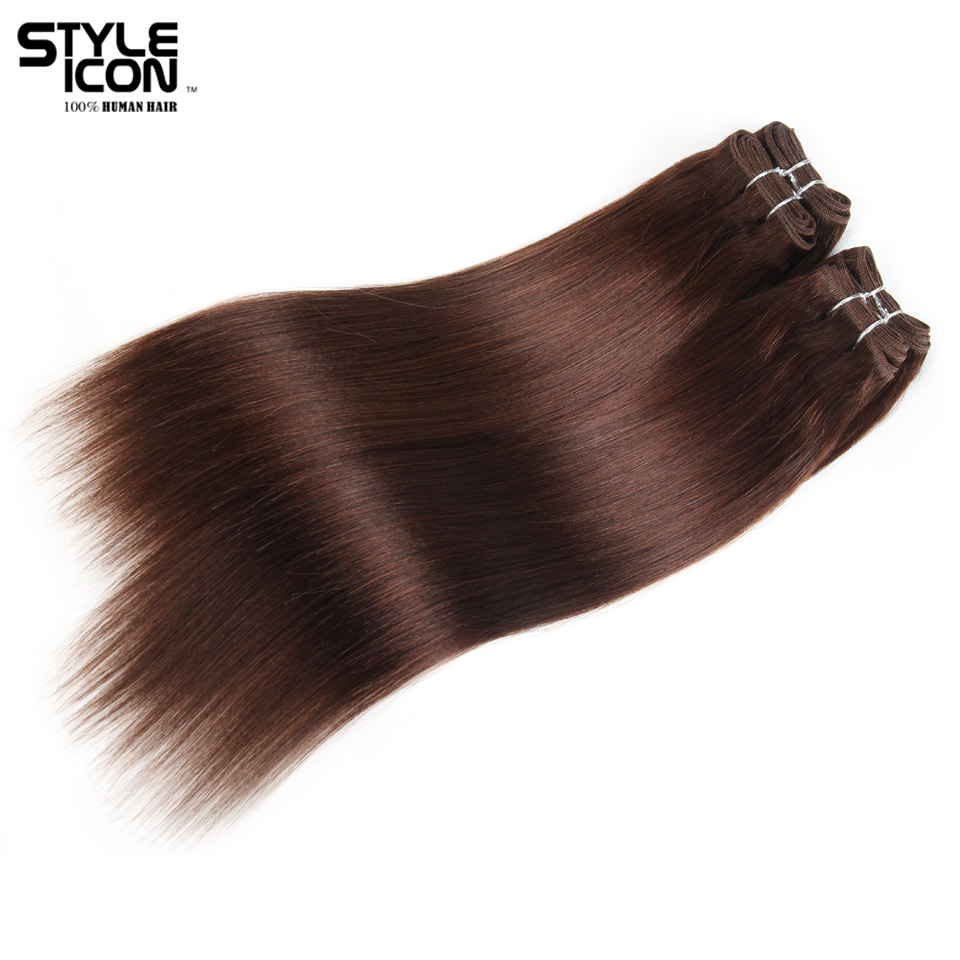 Styleicon Brazilian Yaki Straight Hair 4 Bundles Deal 190G 1 Pack Human Hair Weave Bundles Non Remy Color 4 Hair Extensions