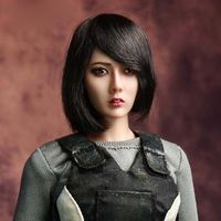 1/6 Scale Asian Beauty Head Sculpt Short Hair Head model for 12in PHICEN/UD Body