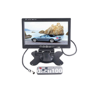 7 inch Car Monitor TFT LCD Monitor FM Remote Controller 2 Video input