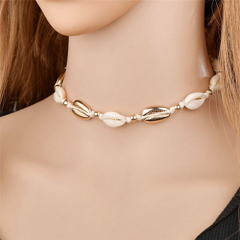 Shell Chain Sea Shell Neck Chain Choker Necklace Women Jewelry For Girls Gift
