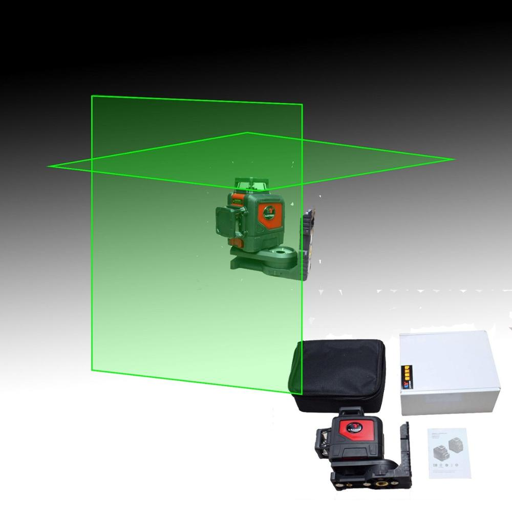 NEW Leter 3D Green Laser Levels 360 Horizontal and 360 Vertical