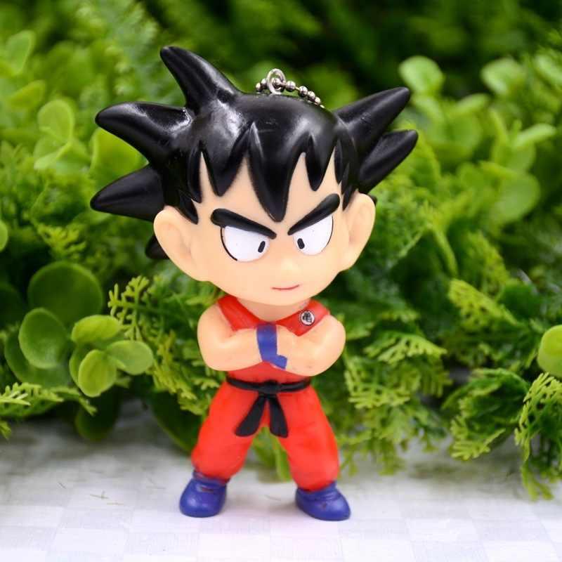 Короткая футболка с героями из японского аниме «Драконий жемчуг с рисунком из аниме «Драконий жемчуг зет» с логотипом и надписью мини-Фигурки кукла-брелок для ключей сумка Подвеска кулон Милые игрушки Dragon Ball для детей; 10 см