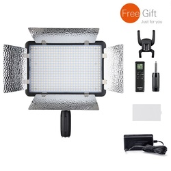 Godox LED500L/LR Video Light With Yellow LED Version 3300K-5600K Handle, Reflectors,RC-A5 Remote Control,AC Supply