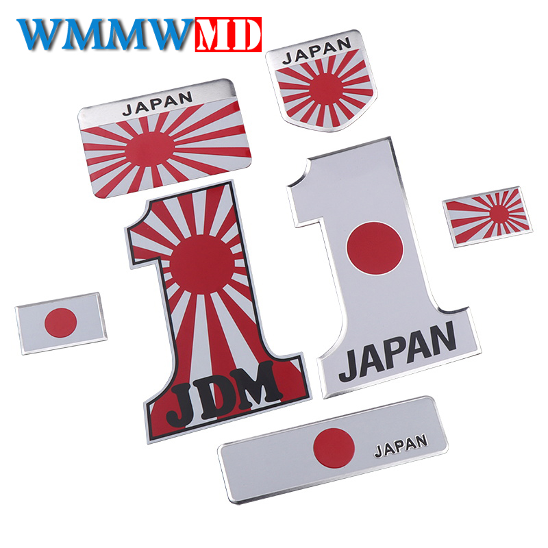 Car Styling 3D Metal Japanese Flag Emblem Badge Logo Japan Sticker Decal for Toyota Honda Suzuki Nissan Mazda Subura Lexus emblem