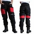 De calidad superior pantalones DUHAN QUE DK002 motocicleta motocross racing pantalones rojos azul negro con rodilleras pantalones a prueba de viento M L XL XXL