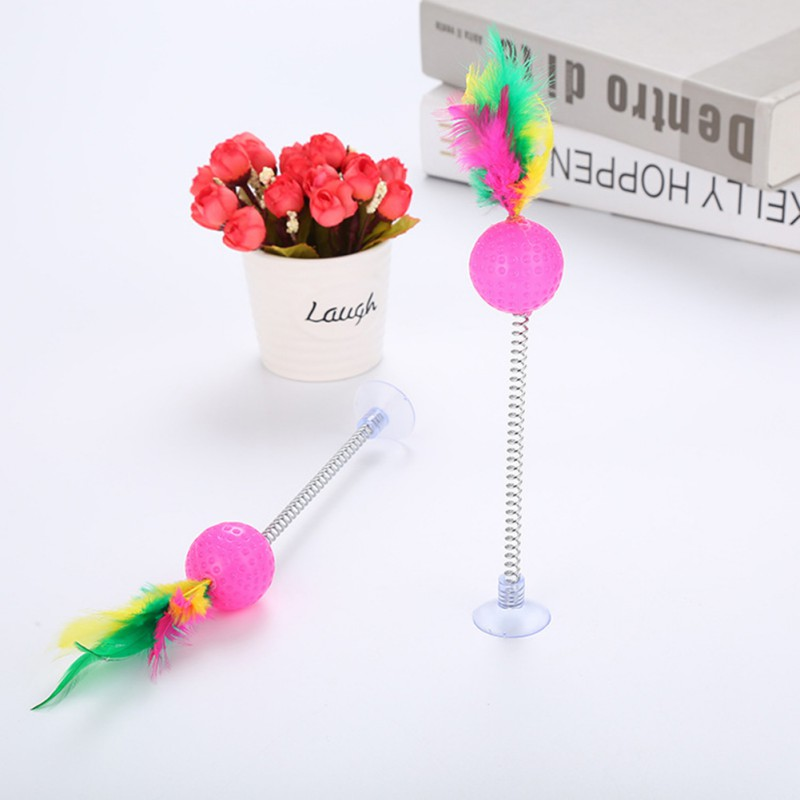 3 PCS Cat Kitten Toy Scratching Ball Funny Play Dolls Tumbler Ball Pet Cat Toys Interactive Feather Toy Pet Supplies