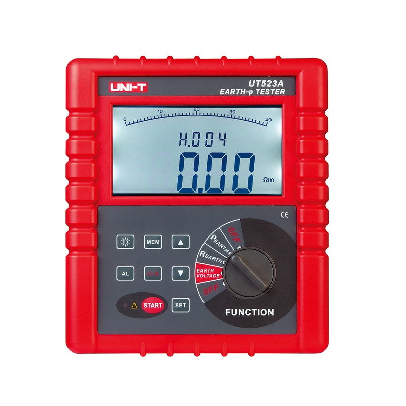 UNI-T UT523A Digital 2/3/4 Pole Earth Ground Resistance Voltage Soil Resistivity Tester Meter RS232 send Via DHL/FEDEX/UPS/EMS
