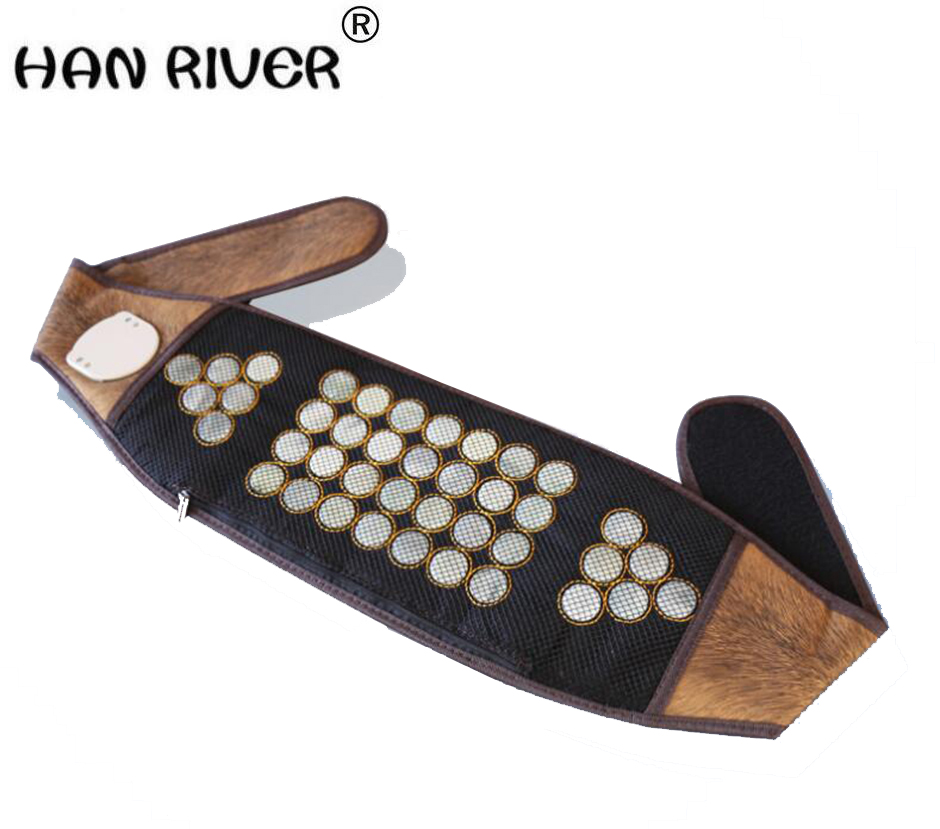 HANRIVER jade heating magnet magnetic therapy vertebra tomalin electric heating can be put medicine package waist belt
