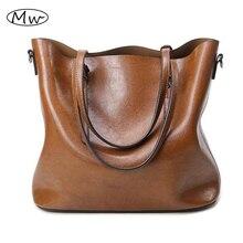 2016 herbst Mode Frauen Leder Handtaschen Große Kapazität Tote Bag Öl Wachs Leder Schultertasche Crossbody Taschen Für Frauen M376