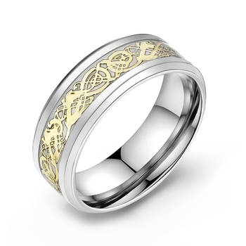 Stainless Steel Glow in the Dark Ring 5