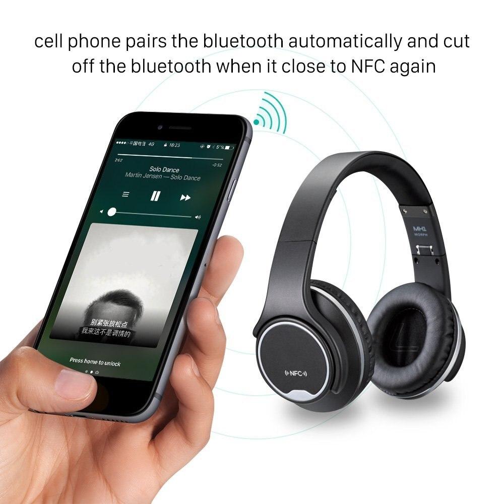 Lerbyee Bluetooth наушники MH1 стерео наушники с твист-Динамик Беспроводной гарнитура On-Ear 2 in1 складные наушники подарки