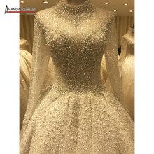 זר חתונה שמלת מלא ואגלי יוקרה shinny כלה שמלת 2020