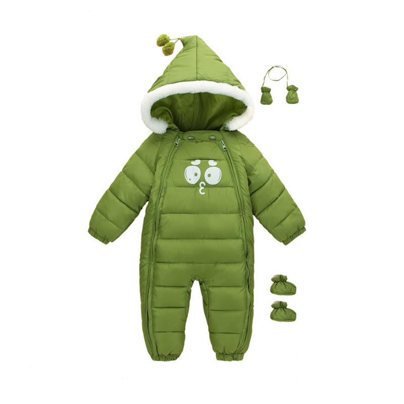 Baby Boys Baby Winter Clothes Snowsuit New Baby Overalls Long Sleeve Hooded Outerwear Girl Romper Warm Down Cotton Jumpsuit E188 new 2018 baby winter clothes cotton thick warm hooded baby jumpsuit newborn baby boy girl romper children snowsuit down clothing