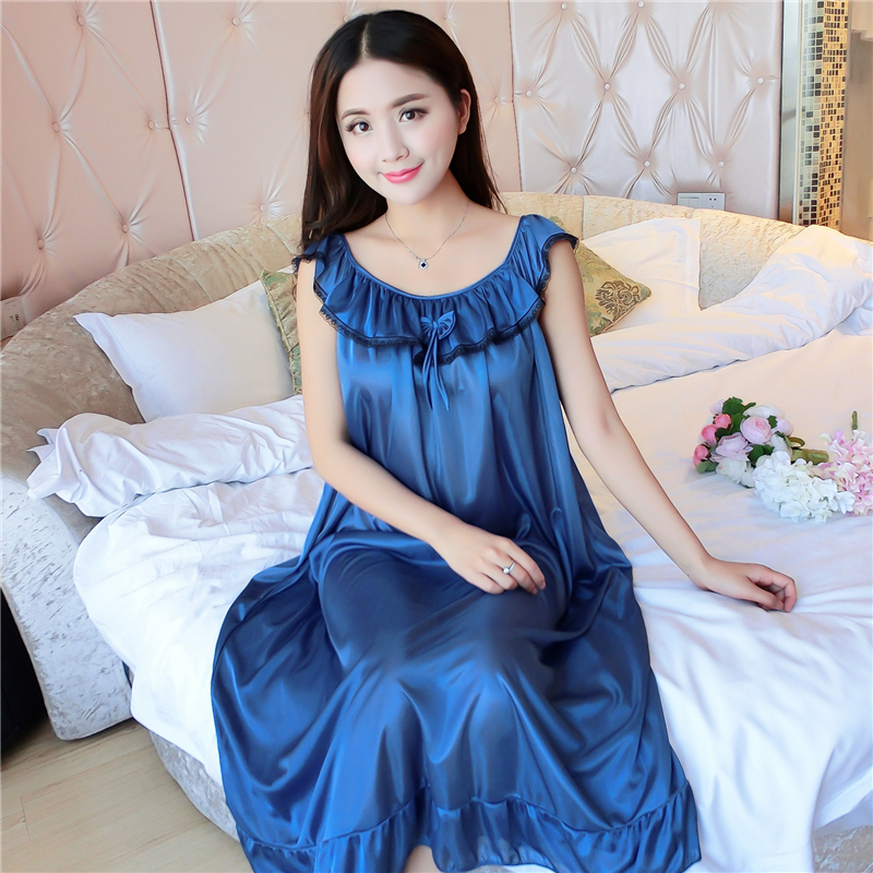 Hot Women Night Gowns Sleepwear Nightwear Long Sleeping Dress Luxury Nightgown Women Casual Night Dress Ladies Home Dressing Z79 5