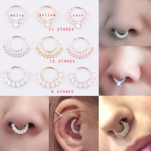 Sellsets 1piece Nose Ring Piercing Septum Jewelry Fake 2a9e5444fd43