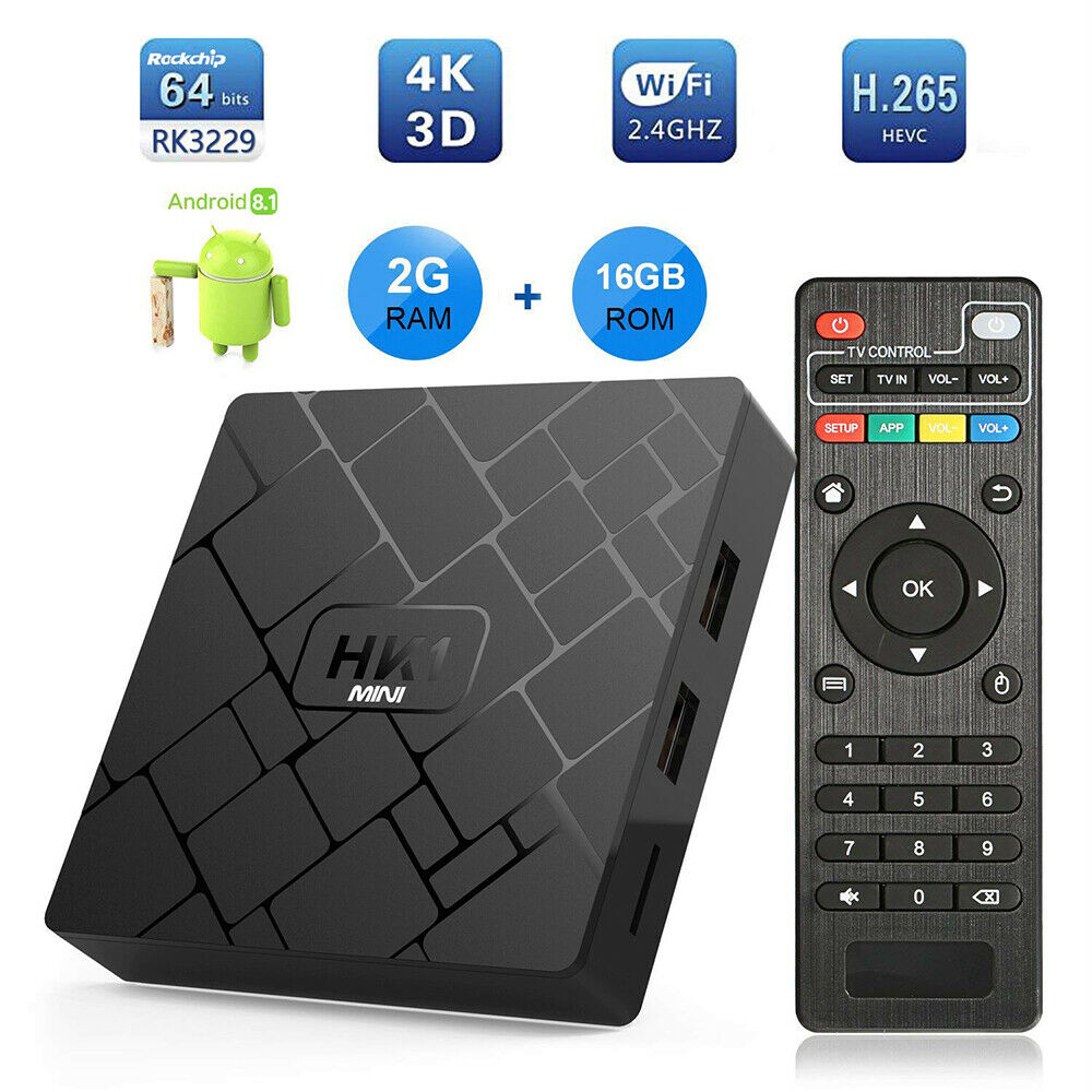 Original XGODY HK1 Mini 4K HD Media Player Quad Core 2GB + 16GB Smart <font><b>TV</b></font> Box <font><b>Android</b></font> <font><b>8.1</b></font> oreo Streamer <font><b>TV</b></font> Empfänger Netflix Youtube image