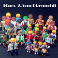 10 Pieces /1lot  7.5cm Germany Genuine Randomly Sent Playmobil Dolls Action Toys Figures Classical Collection Toys for Children