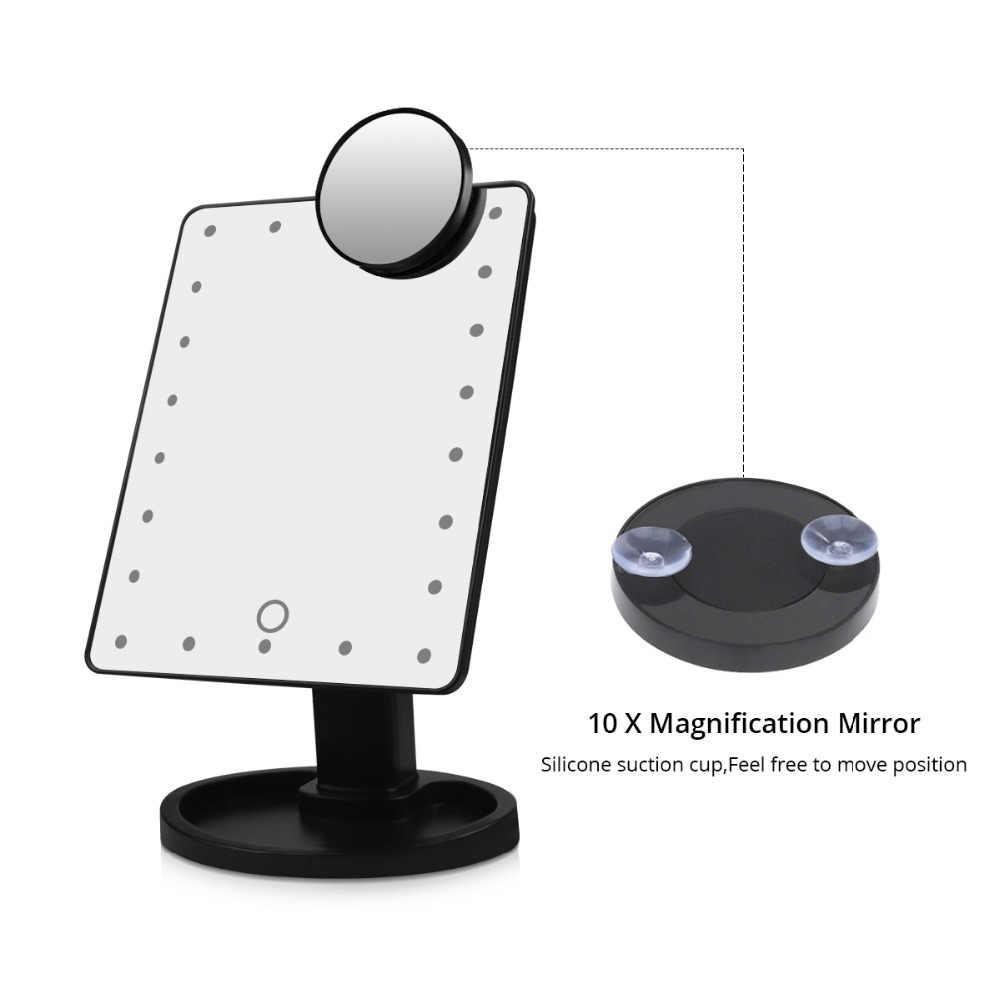 16/22 светодиодный светильник с сенсорным экраном зеркало для макияжа с подсветкой 10X настольная столешница яркий регулируемый светодиодный светильник для макияжа зеркальная лампа