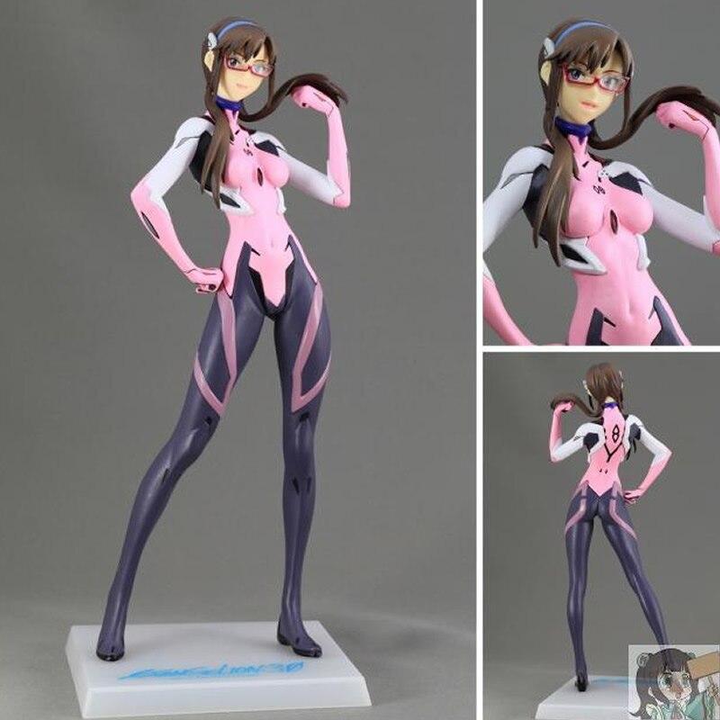 22CM Original PM Series EVA Q Makinami Mari Illustrious Pink Combats Ver PVC action Figure collection