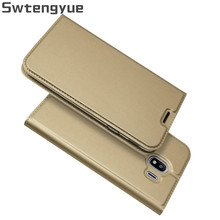 PU Leather Case For Samsung Galaxy J6 2018 Case Filp Wallet Magnet Cover For Samsung Galaxy J4 2018 Stand Card Slot Case недорого