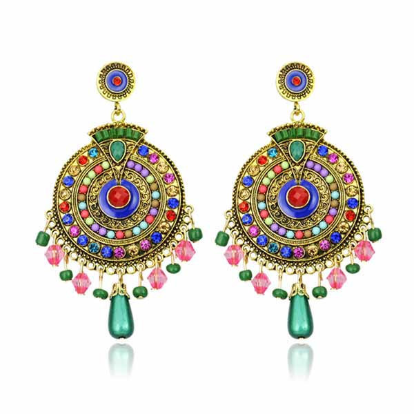 New Arrival Drop Earrings For Women Gold Color Earrings 2017 Fashion