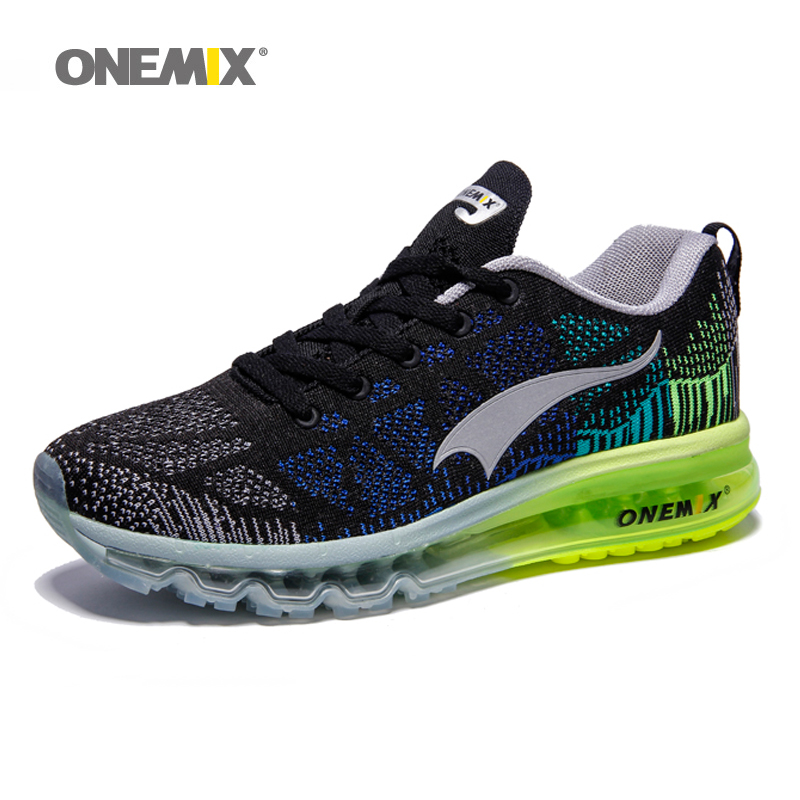 ONEMIX Air Cushion Men's Sport Running Shoes Mesh Knit Trainers Tennis Gym Shoes Men Outdooor Travel Walking Jogging Footwear Tn