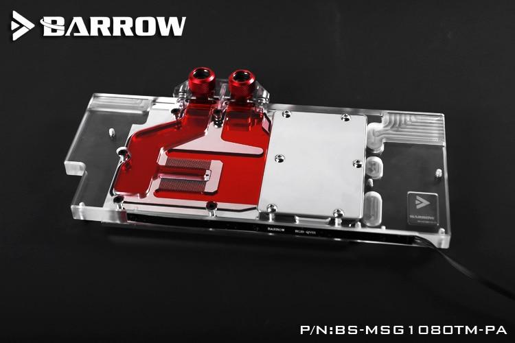Barrow BS-MSG1080TM-PA Mini Water Cooling Block for MSI GTX1080Ti GAMING X TRIO цена 2017