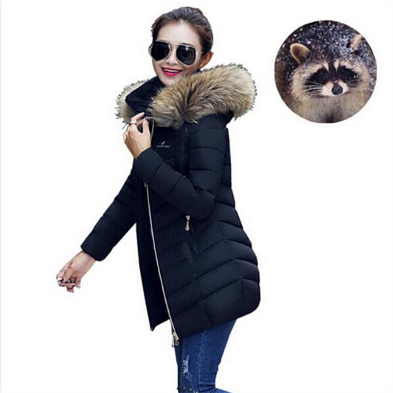 2016 Winter jacket Women Parka Outerwear Female Jacket Large Fur Collar Plus Size S - XXXL Thickening Long Coat Love Vinson international trade company store