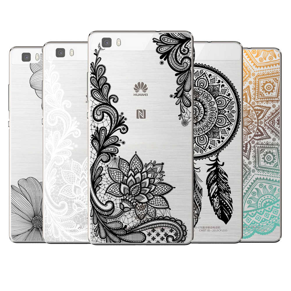 Sexy Floral Lace Mandala Case Cover For Coque Huawei P8 P9 P10 P20 P30 Lite Plus Mate 10 Pro Y5 Y6 II Y3 Y7 2017 Honor 9 6X 7X