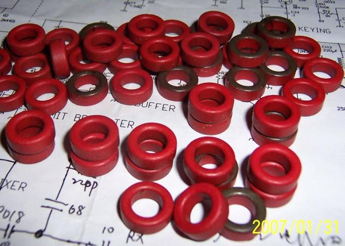 10pcs T50-2 MICROMETALS TOROID HF, QRP , INDUCTOR
