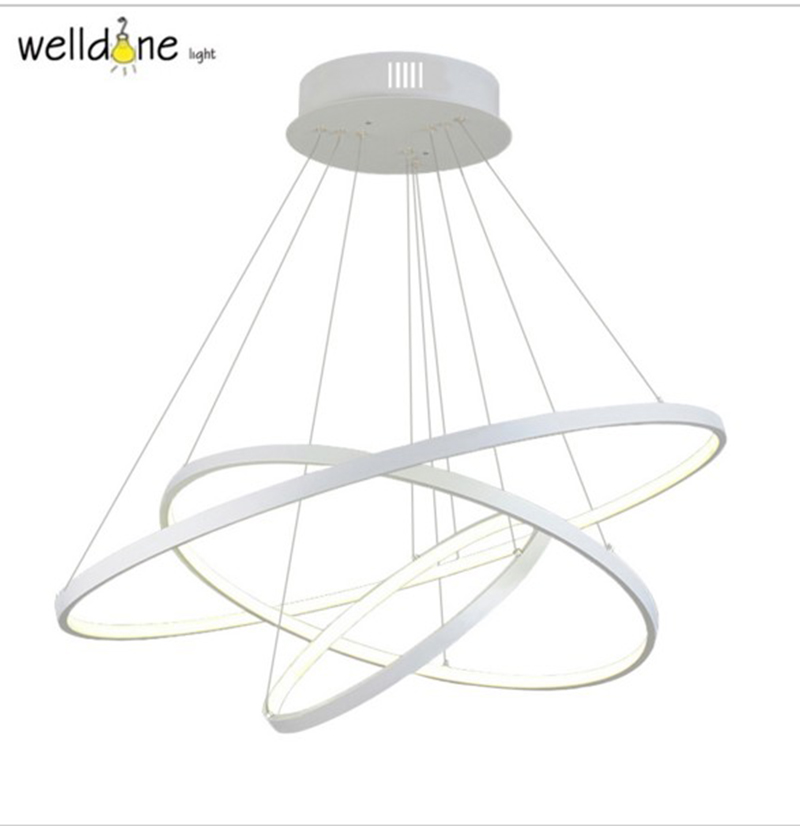 Circle Rings Modern pendant lights for living room dining room Kitchen acrylic body Pendant Lights Hanging ceiling Lamp fixtures modern led pendant lights for living room 2 1 circle rings acrylic led hanging lamp kitchen lamp gold body handing lamp acrylic