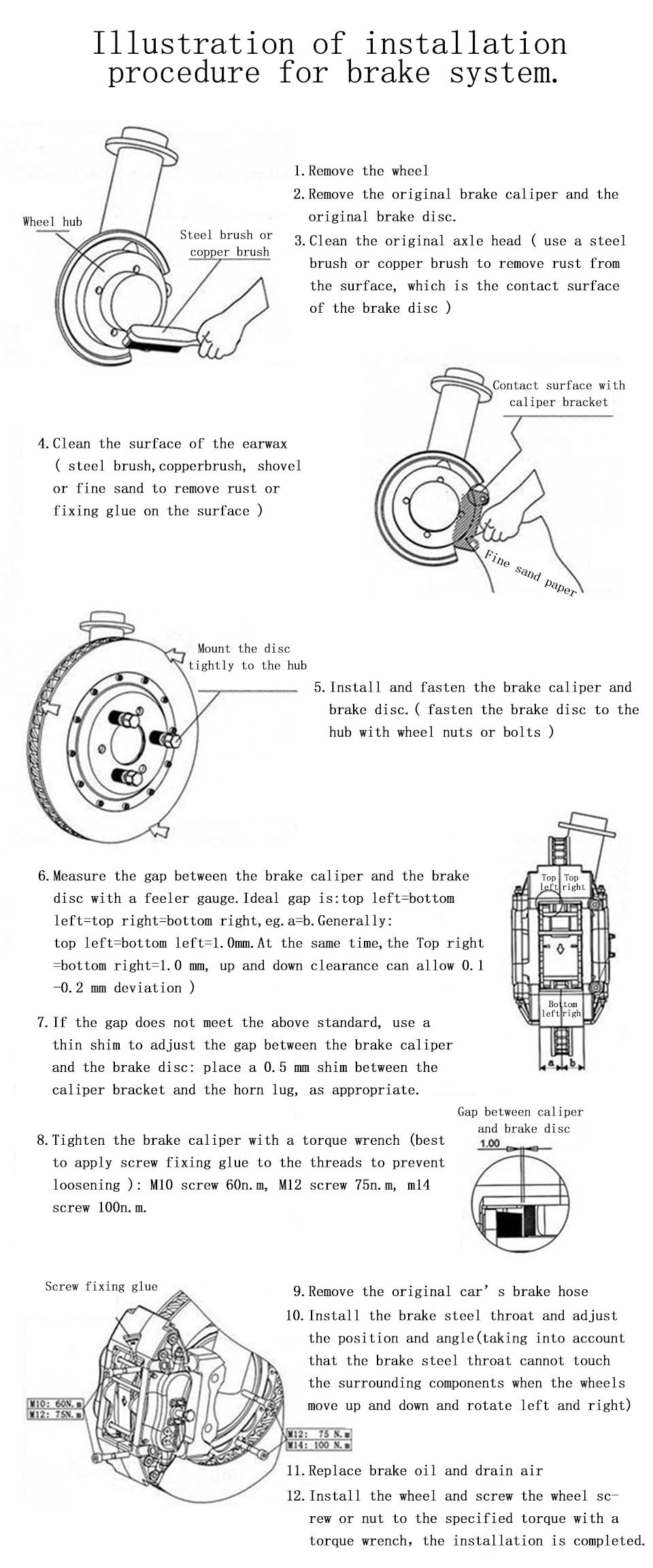 cp5200 4pot brake kit with 330*28mm brake disc for peugeot 307 for 17 rim  wheels