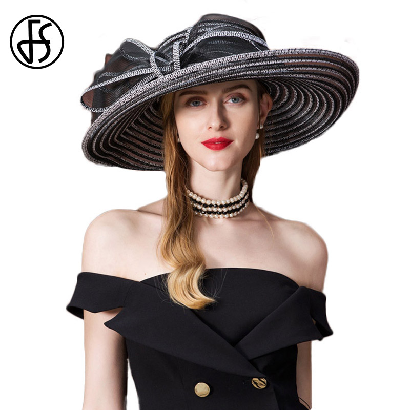 959c83d6057 Detail Feedback Questions about FS Summer Hat 2018 For Women Straw Large  Wide Brim Sun Visor Ladies Floppy Beach Hats Fedora Hoeden Voor Vrouwen  Zomer on ...